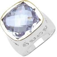 Johareez Brass Amethyst Brass Plated Ring