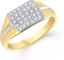 VK Jewels Decent Alloy Cubic Zirconia 18K Yellow Gold Plated Ring
