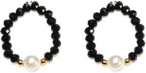 Zaveri Pearls Modern Look Crystal Pearl Toe Ring Set