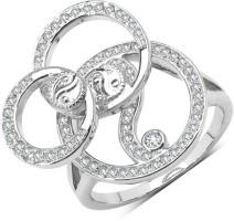 Johareez Brass Cubic Zirconia Brass Plated Ring