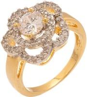 Voylla Artifictial Plain Alloy Cubic Zirconia Yellow Gold Plated Ring