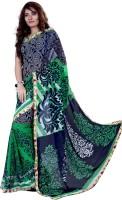Aashu Sarees Printed Bollywood Georgette Sari