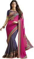 Paridhan Embriodered Fashion Handloom Georgette Sari