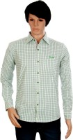 J Marks Green Men's Checkered Formal Shirt