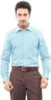 London Bridge Men's Checkered Formal Shirt