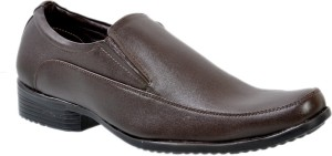 Hirel's Brown Slip On Shoes