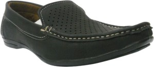 JK Port Black Loafers