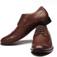 Walker Styleways Brown Leather Brogue Lace Up