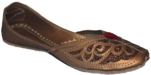 Authority Brown Patterened Leather Mojaris