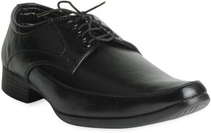 Donner Black Leather Lace Up Shoes