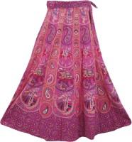 Indiatrendzs Graphic Print Women's Wrap Around Skirt