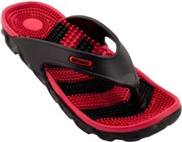 Zovi Red and Black with Accupressure Sole Slippers