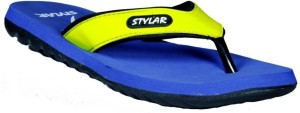 Stylar Neon Green And Blue Ronaldo Flip Flops