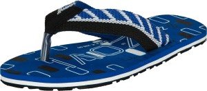 Zovi Black and Blue Twisty Flip Flops