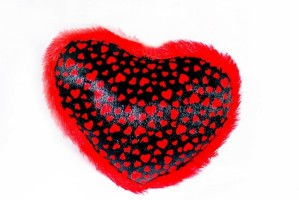 Kjaggs Soft Heart Pillow 3 - 36 cm Red