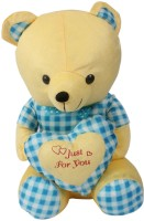 Glitz Baby Checked Teddy 24-GBST057 - 7.8 Inch Yellow
