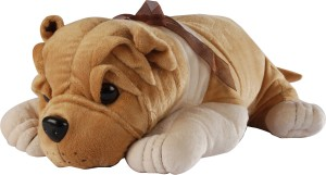 Soft Buddies Lying Bull Dog - 7 inch Brown