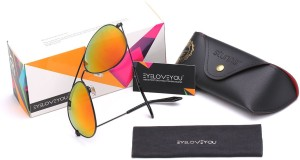 Eyeloveyou Mirror Aviator Sunglasses
