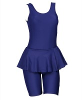 Champ Frock With Half Legsuit Plain Solid Women's