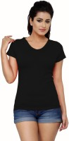 Alba Solid Women's V-neck T-Shirt