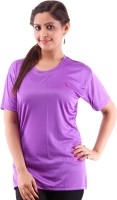 Miauw Solid Women's Round Neck T-Shirt