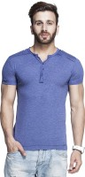 Tinted Solid Men's Henley T-Shirt