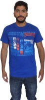 Uniqe Printed Men's Round Neck T-Shirt