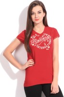 SDL by Sweet Dreams Printed Women's V-neck T-Shirt