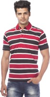Life by Shoppers Stop Striped Men's Polo Neck T-Shirt