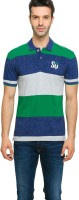 Status Quo Striped Men's Polo Neck T-Shirt