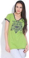 SDL by Sweet Dreams Printed Women's Round Neck T-Shirt