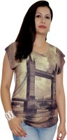 Pindia Printed Women's Round Neck T-Shirt