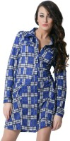 Trendy Divva Checkered Women's Tunic