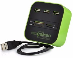 Ophion 3 Port 2.0 HUB Combo Card reader USB Adapter