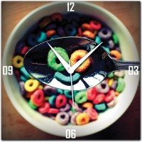 WebPlaza Spoons Analog Wall Clock Multicolor
