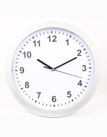 Emerge With Hidden Safe Analog Wall Clock Silver