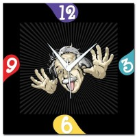 WebPlaza Albert Einstein Analog Wall Clock Multicolor
