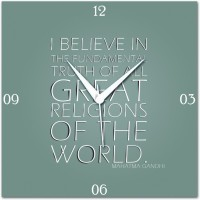WebPlaza I Believe In Analog Wall Clock Multicolor