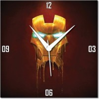 WebPlaza Iron Man Analog Wall Clock Red