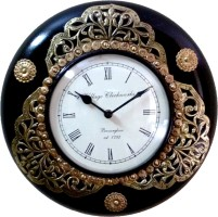 Susheela Art & Craft Tagari Metal Cutting & Punching Analog Wall Clock Antique