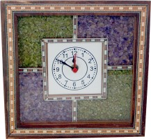 R S Jewels Ethnic Style Gemstone Analog Wall Clock Multicolor