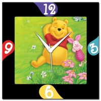 WebPlaza Winnie The Pooh Analog Wall Clock Multicolor
