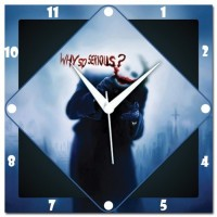 WebPlaza Joker Why So Serious Analog Wall Clock Multicolor