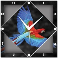 WebPlaza Parrot Analog Wall Clock Multicolor