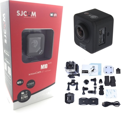 Sjcam M10 Wifi Mini Cube Cam-1.5 Inch Ultra HD Display Waterproof 12MP 1080p-Car Dash 170 Degree HD wide-angle lens Point & Shoot Camera