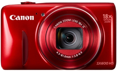 Canon PowerShot SX600 HS Point & Shoot Camera (Red)