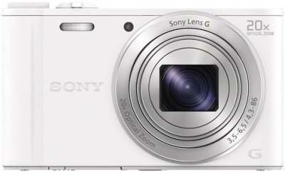 Sony DSC-WX350 Point & Shoot Camera (White)