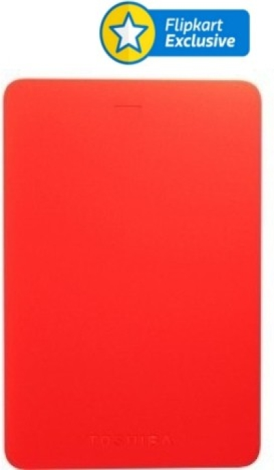 Toshiba Canvio Alumy 2 TB Wired External Hard Disk (Red)
