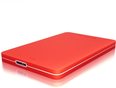 Toshiba Canvio Alumy 1 TB Wired External Hard Disk (Red)
