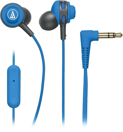 Audio Technica ATH COR150iS BL Wired Headset With Mic